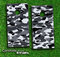 Traditional Snow Camo Skin-set for a pair of Cornhole Boards
