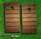 Bolted Wood Planks Skin-set for a pair of Cornhole Boards