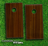 Walnut Wood Skin-set for a pair of Cornhole Boards