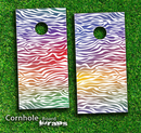 Football Laced Skin-set for a pair of Cornhole Boards
