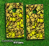 Yellow Butterfly Bundle Skin-set for a pair of Cornhole Boards