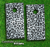 Real Black & White Leopard Print Skin-set for a pair of Cornhole Boards