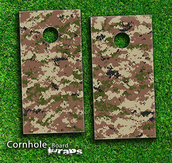 Digital Camo V4 Skin-set for a pair of Cornhole Boards