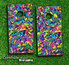 Neon Sprinkles Skin-set for a pair of Cornhole Boards