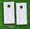 Crumpled Paper Skin-set for a pair of Cornhole Boards
