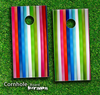 Rainbow Striped Skin-set for a pair of Cornhole Boards