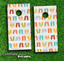 Flip Flop Skin-set for a pair of Cornhole Boards