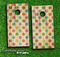 Vintage Polka Dot Skin-set for a pair of Cornhole Boards