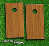 Bamboo Wood Skin-set for a pair of Cornhole Boards