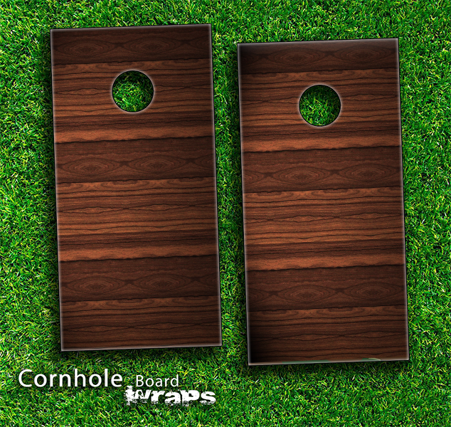 Heavy Woodgrain Skin-set for a pair of Cornhole Boards
