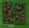 Traditional Camouflage Skin-set for a pair of Cornhole Boards