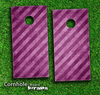 Slanted Purple Striped Skin-set for a pair of Cornhole Boards