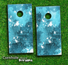 Blue Paint Splatter Skin-set for a pair of Cornhole Boards