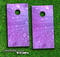 Purple Rain Skin-set for a pair of Cornhole Boards