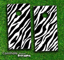 Zebra Print Skin-set for a pair of Cornhole Boards
