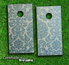 Green Lace Skin-set for a pair of Cornhole Boards