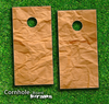 Paper Bag Skin-set for a pair of Cornhole Boards