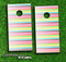 Bright Striped Skin-set for a pair of Cornhole Boards