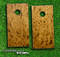 Wood Burl Skin-set for a pair of Cornhole Boards