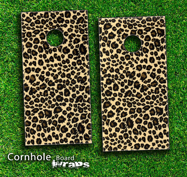 Cheetah Print V3 Skin-set for a pair of Cornhole Boards