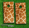 Giraffe Animal Print Skin-set for a pair of Cornhole Boards