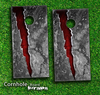 Cracked Red Core Skin-set for a pair of Cornhole Boards