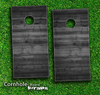 Dark Wood Skin-set for a pair of Cornhole Boards