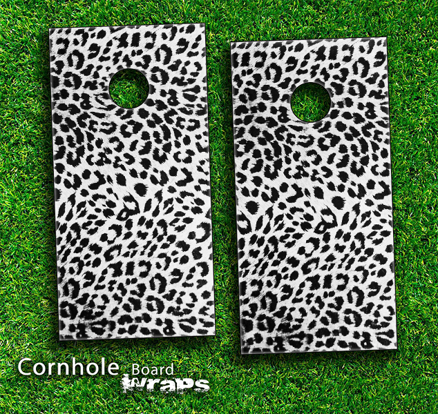 Lepard Print Skin-set for a pair of Cornhole Boards