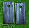 Blue Washed Wood Skin-set for a pair of Cornhole Boards