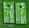 Green Peeled Wood Skin-set for a pair of Cornhole Boards