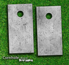 Cracked Concrete Skies Skin-set for a pair of Cornhole Boards