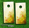 Yellow Butterfly Skies Skin-set for a pair of Cornhole Boards