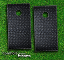Diamond Plate Skin-set for a pair of Cornhole Boards
