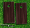 Dark Wood Grain Skin-set for a pair of Cornhole Boards