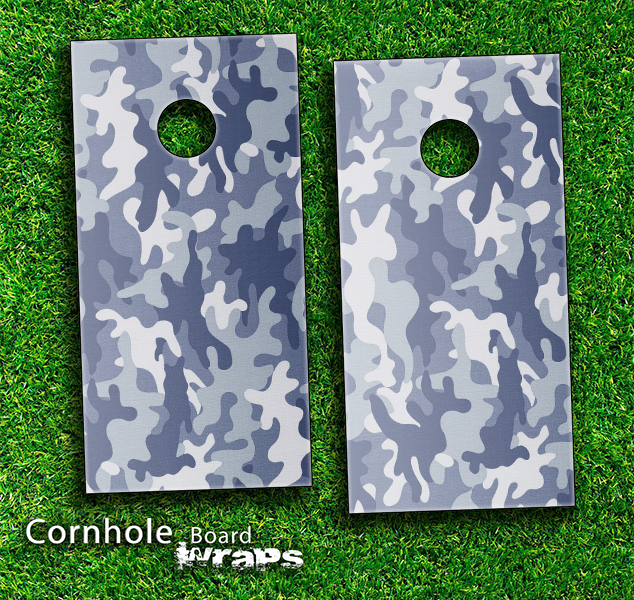 Snow Camo V2 Skin-set for a pair of Cornhole Boards