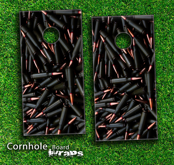 Bullets Bundle Skin-set for a pair of Cornhole Boards