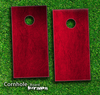 Red Leather Skin-set for a pair of Cornhole Boards