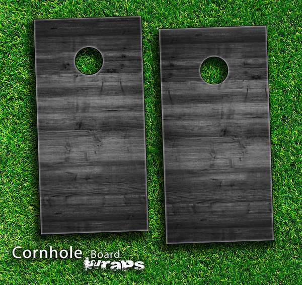 dark wood v2 skinset for a pair of cornhole boards - Cornhole Board Wraps