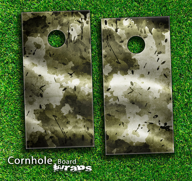 Grungy Camo Skin-set for a pair of Cornhole Boards