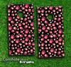Cute Pink Paws Skin-set for a pair of Cornhole Boards