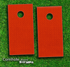 Red Jersey Textured Skin-set for a pair of Cornhole Boards