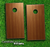 Straight Wood Skin-set for a pair of Cornhole Boards