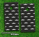 Mustache Galore Skin-set for a pair of Cornhole Boards