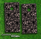 Black Floral Sprout Skin-set for a pair of Cornhole Boards