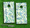 Floral Design Skin-set for a pair of Cornhole Boards