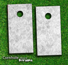 White Lace Skin-set for a pair of Cornhole Boards