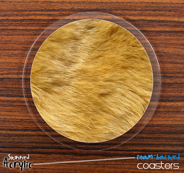 The Furry Animal Skinned Foam-Backed Coaster Set