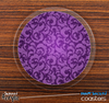 The Purple Laced Skinned Foam-Backed Coaster Set