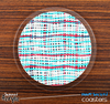 The Woven Turquoise & White Strands Skinned Foam-Backed Coaster Set
