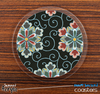 The Black & Floral Skinned Foam-Backed Coaster Set
